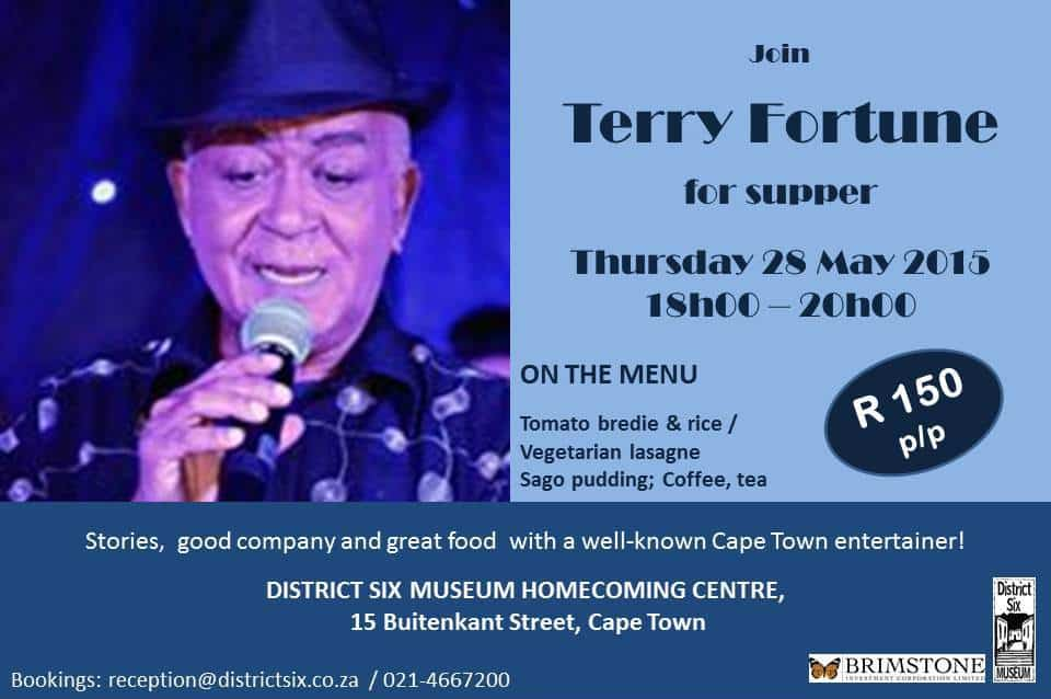 District Six Museum's May Supper Club presents TERRY FORTUNE