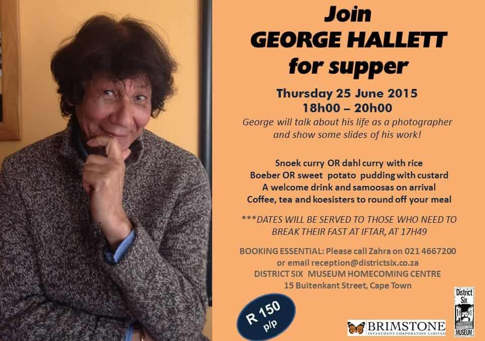 District Six Museum's June Supper Club presents GEORGE HALLETT